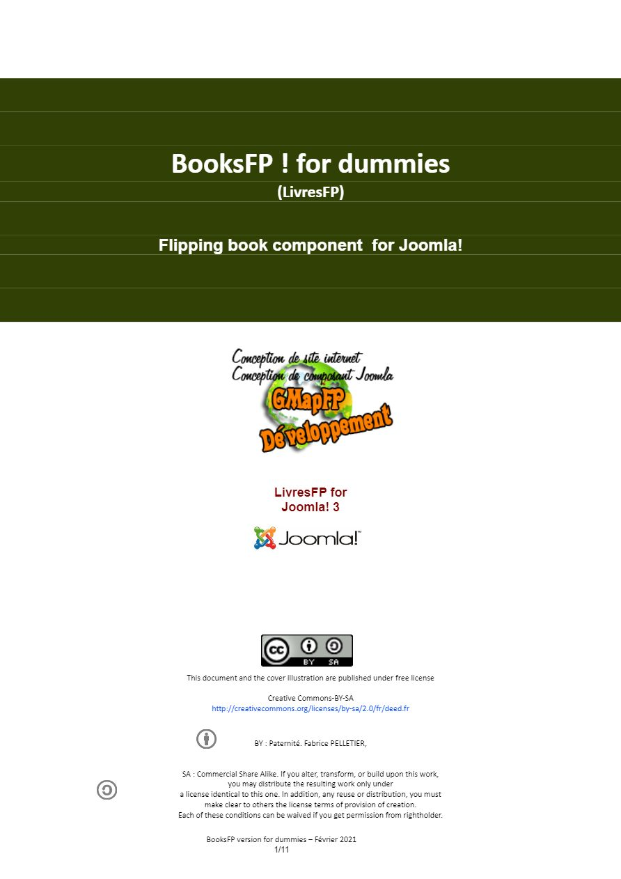 Image of the front cover of the BookFP documentation
